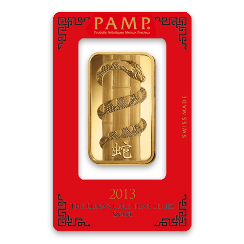 100g PAMP Gold Bar - Lunar Snake
