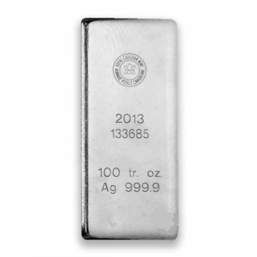 100oz Royal Canadian Mint (RCM) Silver Bar