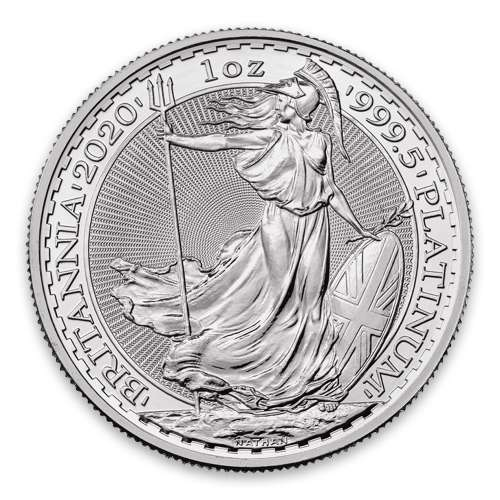 2020 1oz British Platinum Britannia Coin