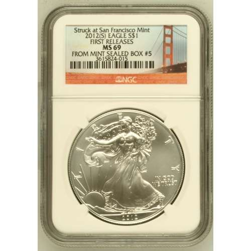 2012-(S) FIRST RELEASES Struck at San Francisco M (S) SBUEns NGC MS-69