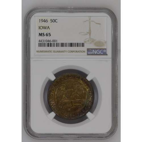 1946 IOWA Color!! MSDDS NGC MS-65