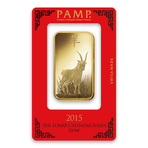 100g PAMP Gold Bar - Lunar Goat