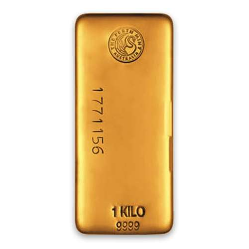 1kg Australian Perth Mint gold bar - cast