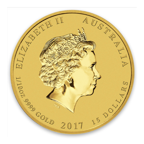 2017 1/10oz Australian Perth Mint Gold Lunar II: Year of the Rooster