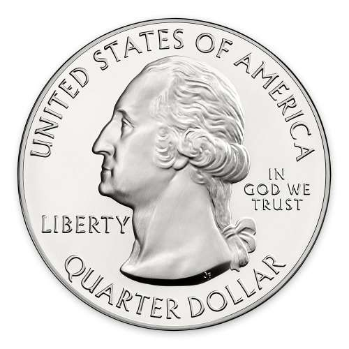 2013 5 oz Silver  America the Beautiful Mount Rushmore National Park