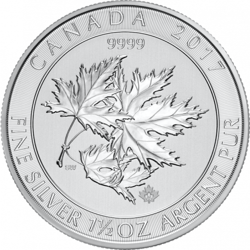 2017 1.5oz Canadian Silver Maple Leaves