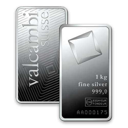 1kg Valcambi Minted Silver Bar
