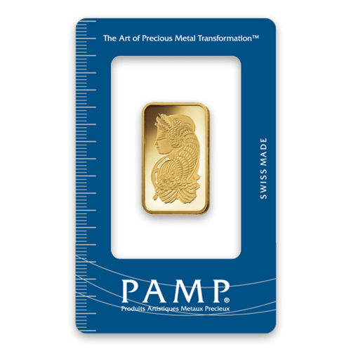 1/2oz PAMP Gold Bar - Fortuna