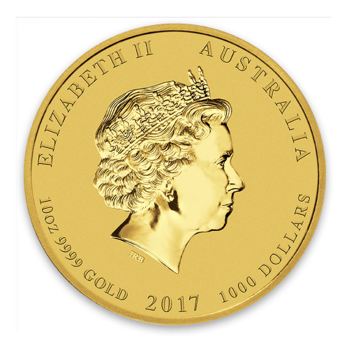 2017 10oz Australian Perth Mint Gold Lunar II: Year of the Rooster