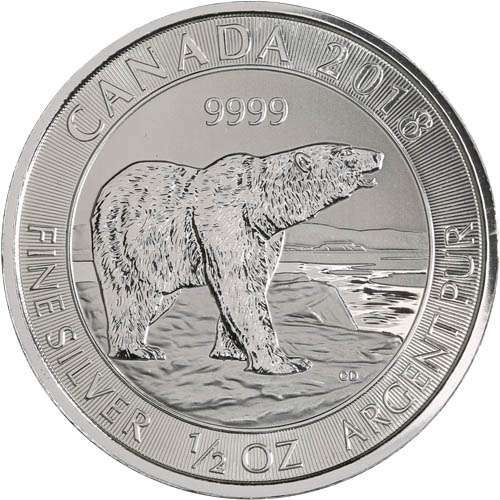 2018 Canadian 1/2 oz Silver Polar Bear Coin