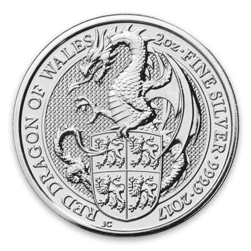 2017 2oz Silver Britain Queen's Beasts: The Dragon