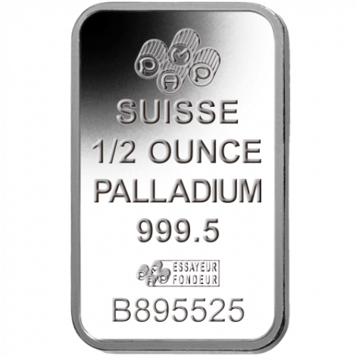1/2oz PAMP Palladium Bar - Fortuna