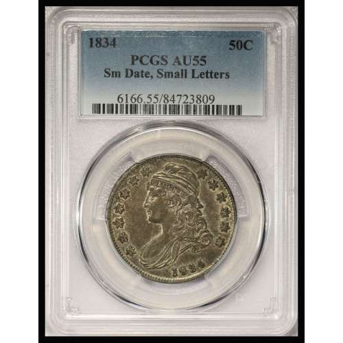 1834 Small Date, Small Letters  PCGS AU-55