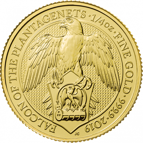 2019 1/4oz Britain Queen's Beast: The Falcon of the Plantagenets