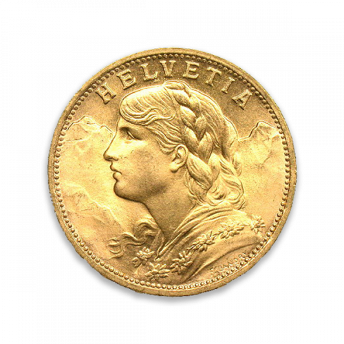 Any Year Gold Swiss 20 Franc