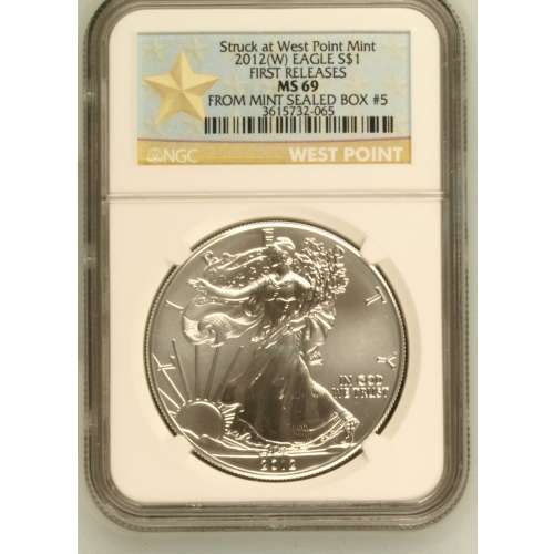 2012-(W) FIRST RELEASES Struck at West Point Mint (W)SBUEns NGC MS-69