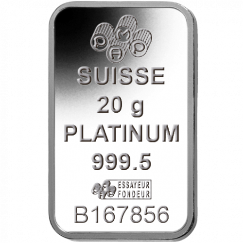 20g PAMP Platinum Bar - Fortuna