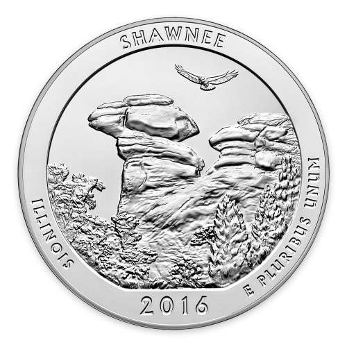 2016 5 oz Silver America the Beautiful Shawnee National Forest